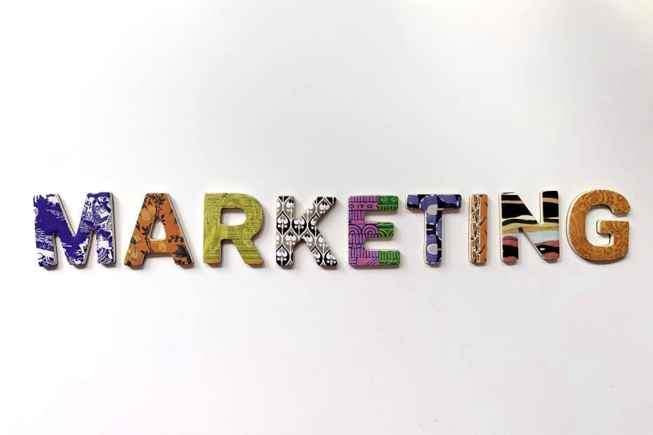 multicolored marketing freestanding letter